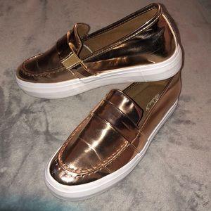 Rose Gold Slip on Sneakers